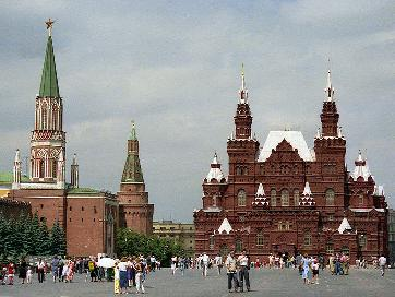 The Red Square in Moscow.