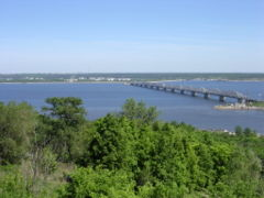 The Volga, the most famous river of Russia.